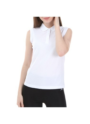 Robe di Kappa Rdk Kadın Kolsu Polo T-Shirt Wws  Beyaz